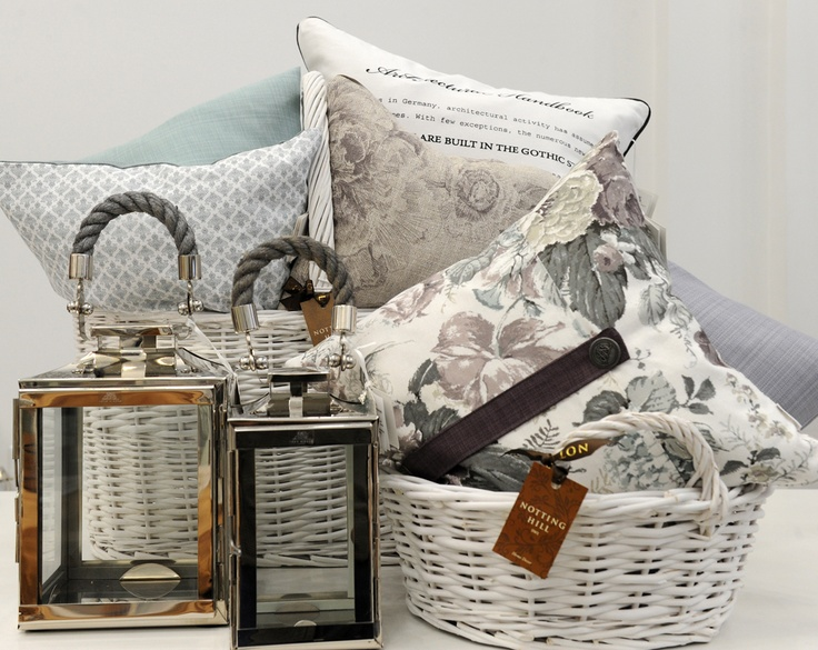 Gorgeous throw pillows and silver nickel hurricane lanterns. Available exclusively at Notting-Hill.ca. Enter to win a $ 300 #NottingHill gift card http://theprov.in/nottingcontest #contest