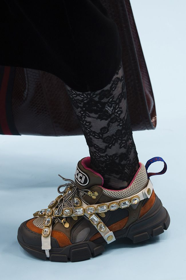 b1e7b75c512 Ugly sneaker trend had a fancy makeover at fall 2018 fashion week ...