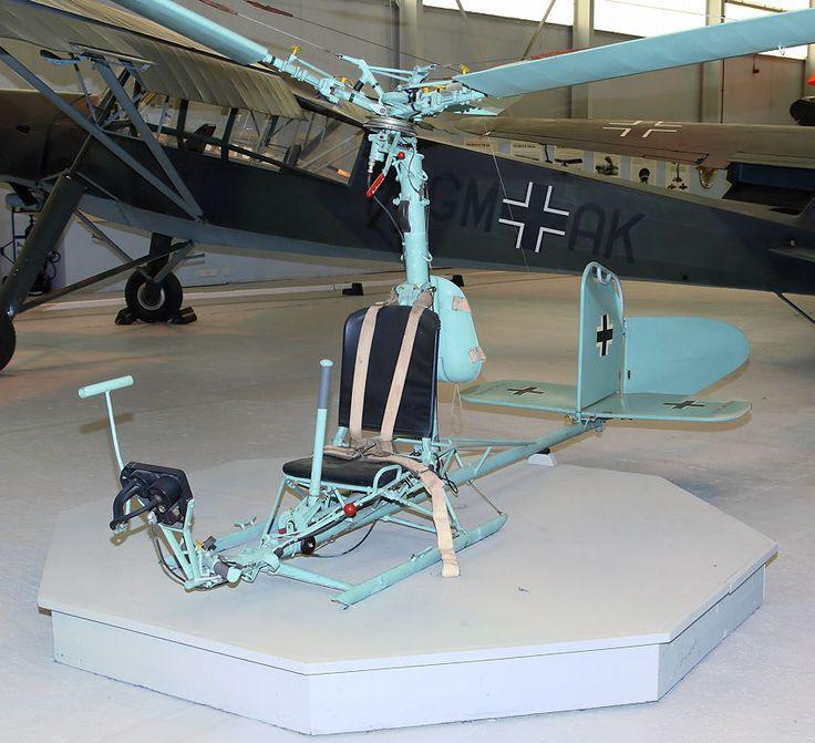 Focke Achgelis FA-330 Bachstelze: motorloser Tragschrauber des 2. Weltkrieges Towed behind U-boats for observation