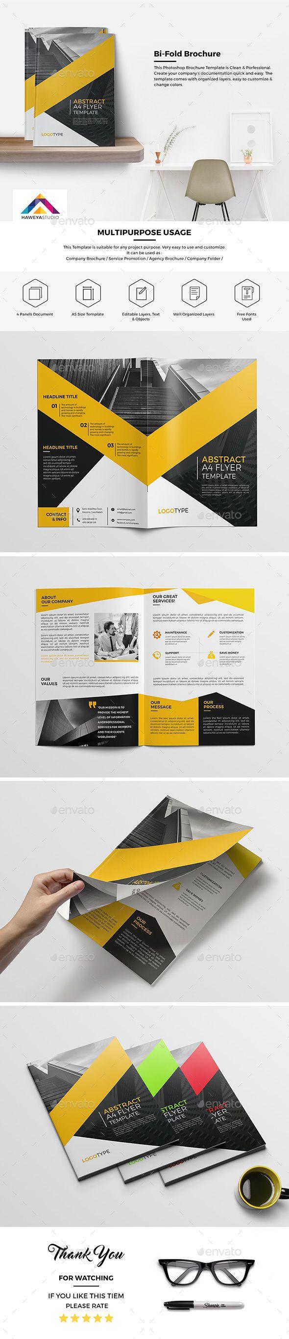 Haweya Bi-Fold Brochure Template PSD. Download here: http://graphicriver.net/item/haweya-bifold-brochure-04-/15649117?ref=ksioks