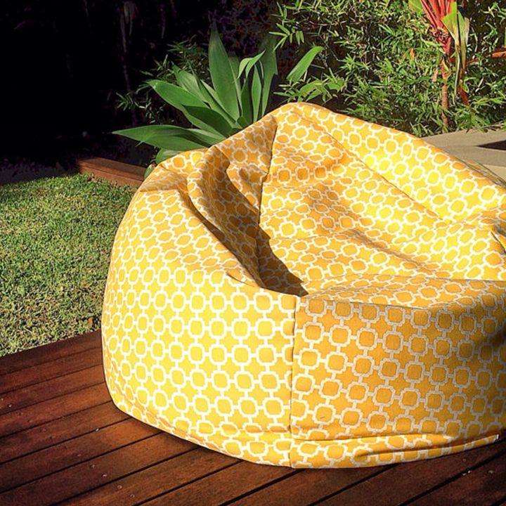 Yellow Tile Geometric Bean Bag