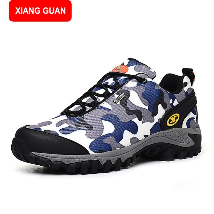 XIANG GUAN Waterproof Hiking Shoes Men Canvas Trekking Boots Sport Outdoor Shoes Mountain Climbing Fishing Hunting Boots 567347