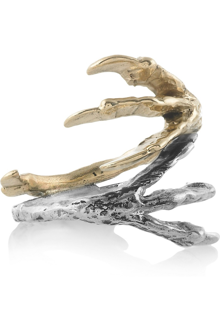 Pamela Love | 14-karat gold and sterling silver talon ring | NET-A-PORTER.COM      #TZRbday