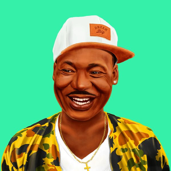 Hipstory -  Martin Luther King Art Print by Amit Shimoni | Society6 #art  #design #awesome #print  #poster  #color  #cool  #gift  #gift #ideas  #hipster  #funny  #Illustration  #threadless  #drawing  #girls  #beautiful #humor