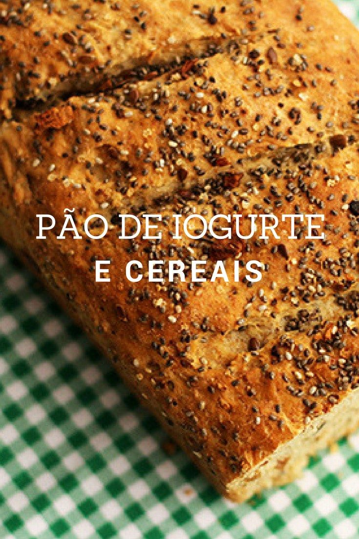Pão de iogurte e cereais    Faça em casa um pão de iogurte e cereais. O preparo é fácil e o pão é muito saboroso. Confira a receita!