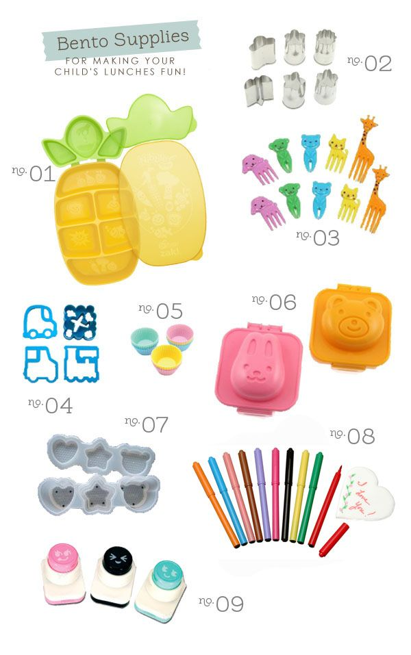 Bento Supplies: Make kid's lunches fun :)