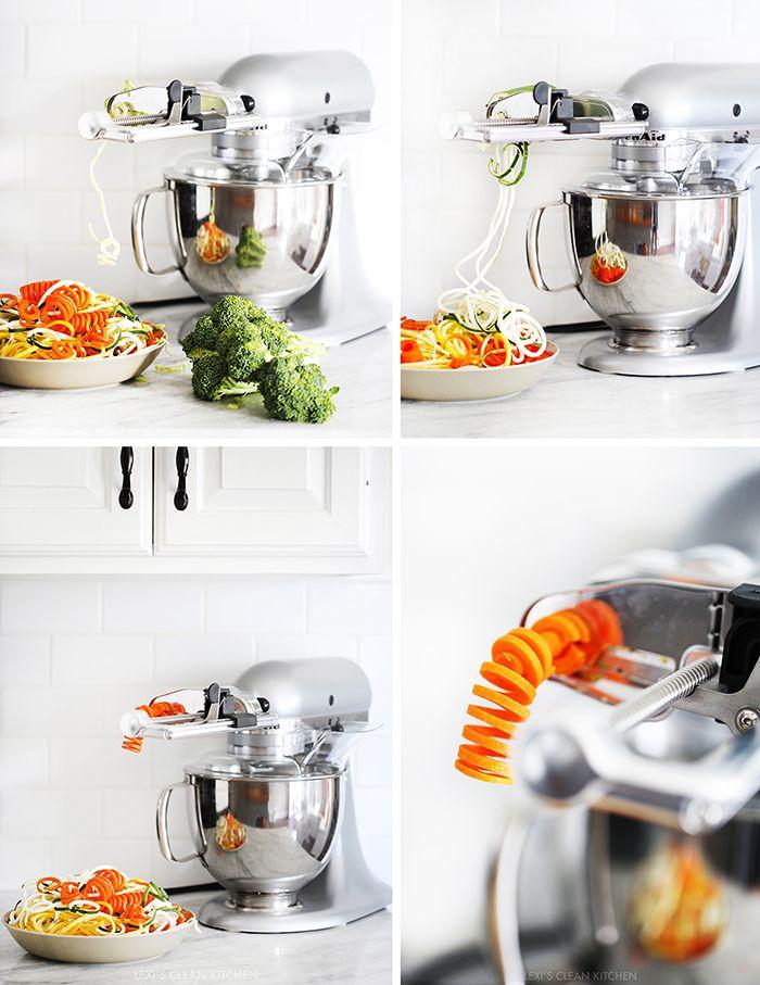 25 Best images about Spiralizer recipes on Pinterest  -> Kitchenaid Spiralizer