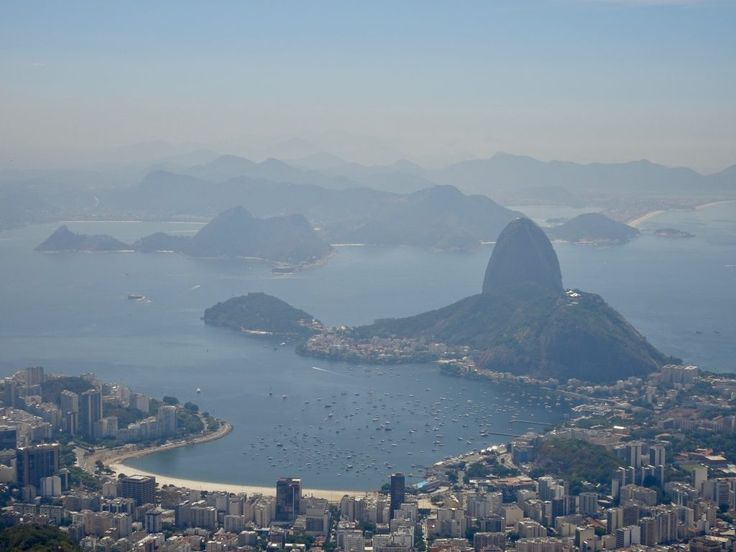 Sugar Loaf and Rio's bay from Cristo Redentor