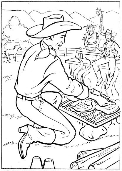 coloring pages | Western coloring pages for kids | Pinterest