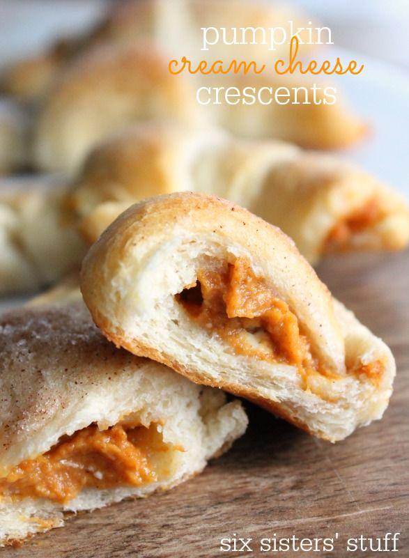 Pumpkin Cream Cheese Crescents Recipe Fall Desserts