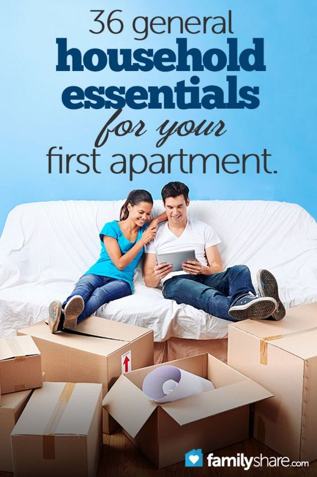 36 general household essentials for your first apartment- 1st things when you unpack