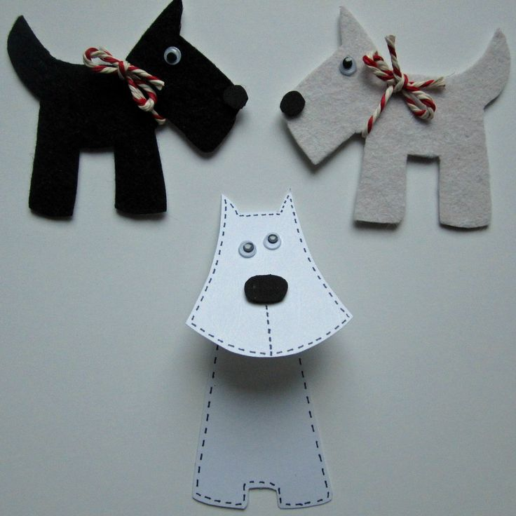 Scottish Day themed crafts | Scotty Dog badges and Scotty Dog bookmark