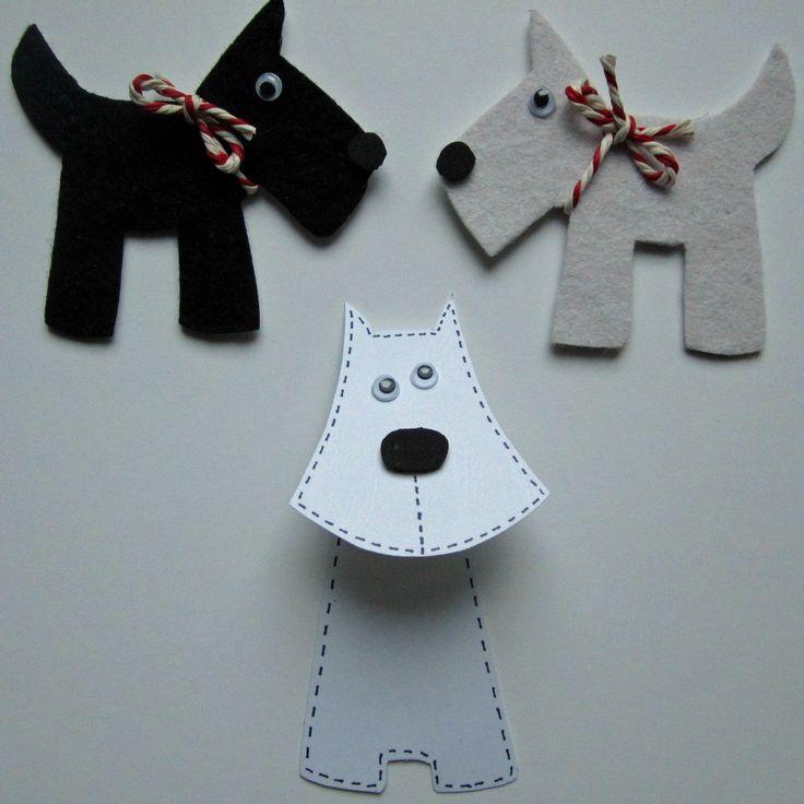 Scottish Day themed crafts | Scotty Dog badges and Scotty Dog bookmark
