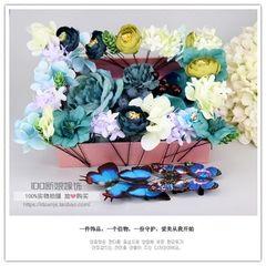 花仙子造型新娘花盒头饰仿真花朵套装头花结婚浆果干花礼盒发饰