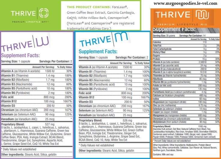 THRIVE PRODUCT INGREDIENTS ITS FREE TO SIGN UP !!!! www.behealthy4you.le-vel.com Join me and lets Thrive on!!