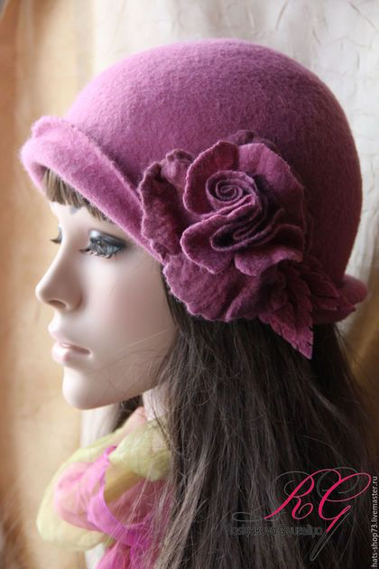 Felting Hat, color orchidee
