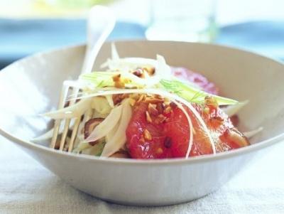 Fenchelsalat mit Orangen, Datteln und Mandeln: Recipes