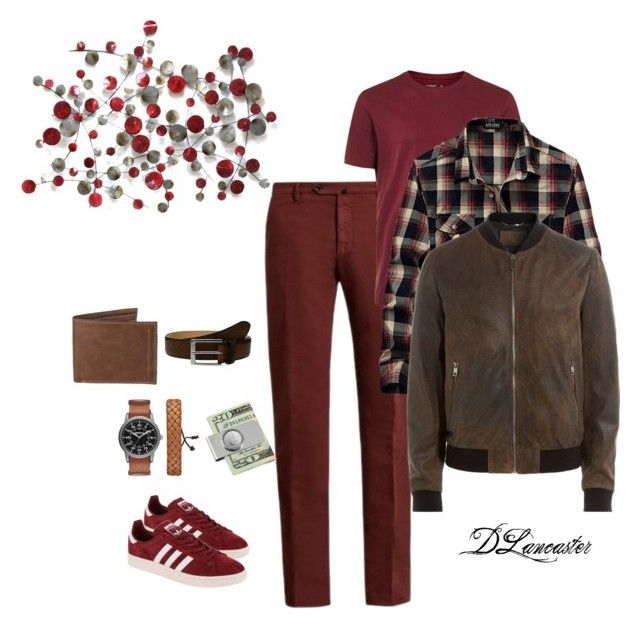 """Casual Day"" by diane-711 ❤ liked on Polyvore featuring Incotex, Topman, adidas Originals, Arizona, Dolce&Gabbana, Levi's, To Boot New York, American Coin Treasures, men's fashion and menswear"