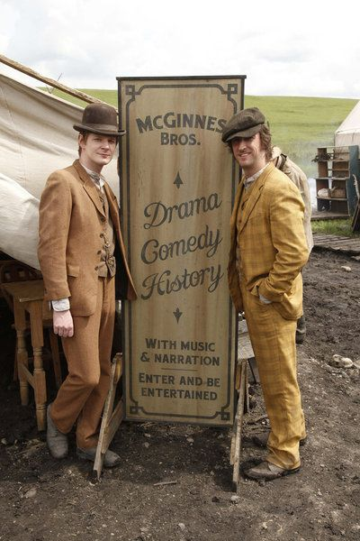 Ben Esler and Philip Burke in Hell on Wheels. I don't trust either of them but that wouldn't stop me.
