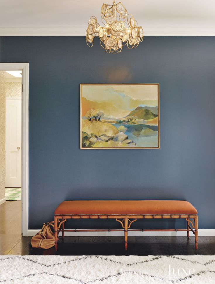 Eclectic Navy Entry Vignette