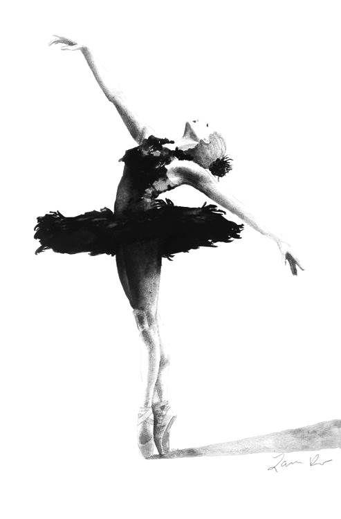 Ballerina schwarz/weiß