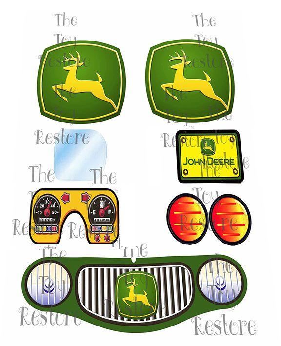 New #JohnDeere Replacement Decals Stickers for Vtg #LittleTikes #CozyCoupeMakeover Car