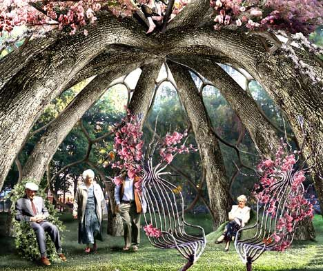 aptly titled the patient gardener the garden structure will be shaped from a circle of