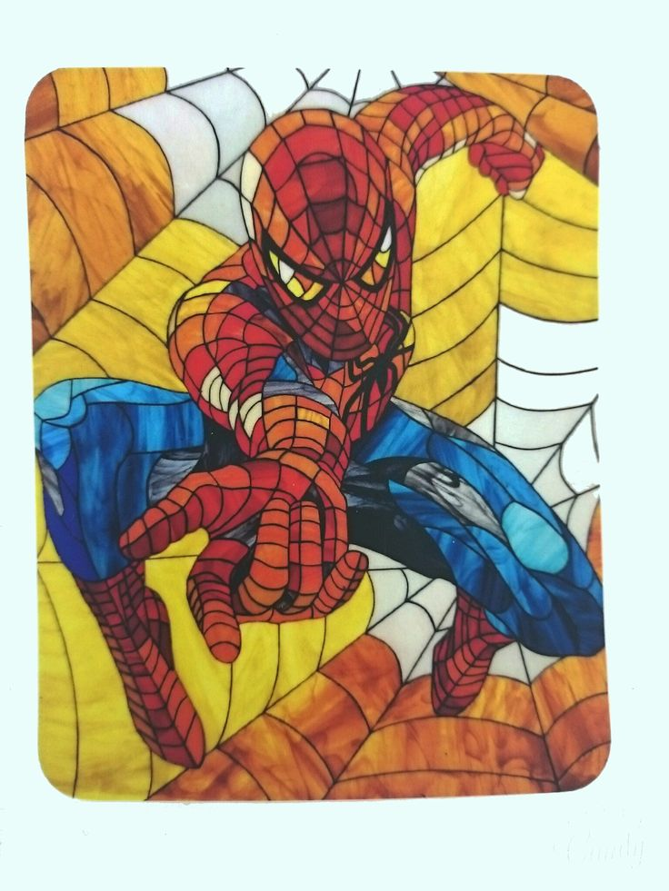 """Heroic Magnet """"Spider man"""". Photos of the classic stained glass in the Tiffany technique https://www.etsy.com/ru/listing/263704703/heroic-magnet-spider-man-photos-of-the?ref=shop_home_active_6 #stainedglass #spiderman #glassart #art #artbrothers #витраж #magnet #gift"""