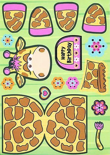 Giraf knutselen met kleuters / giraffe preschool craft / Gina