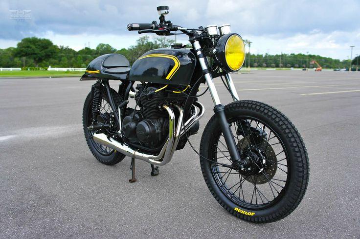 1975 Honda CB400F made by Steel Bent Customs