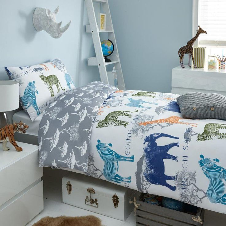 going on safari 2 piece uk double us full sheet set 1 x double sided sheet u0026 2 x pillowcases