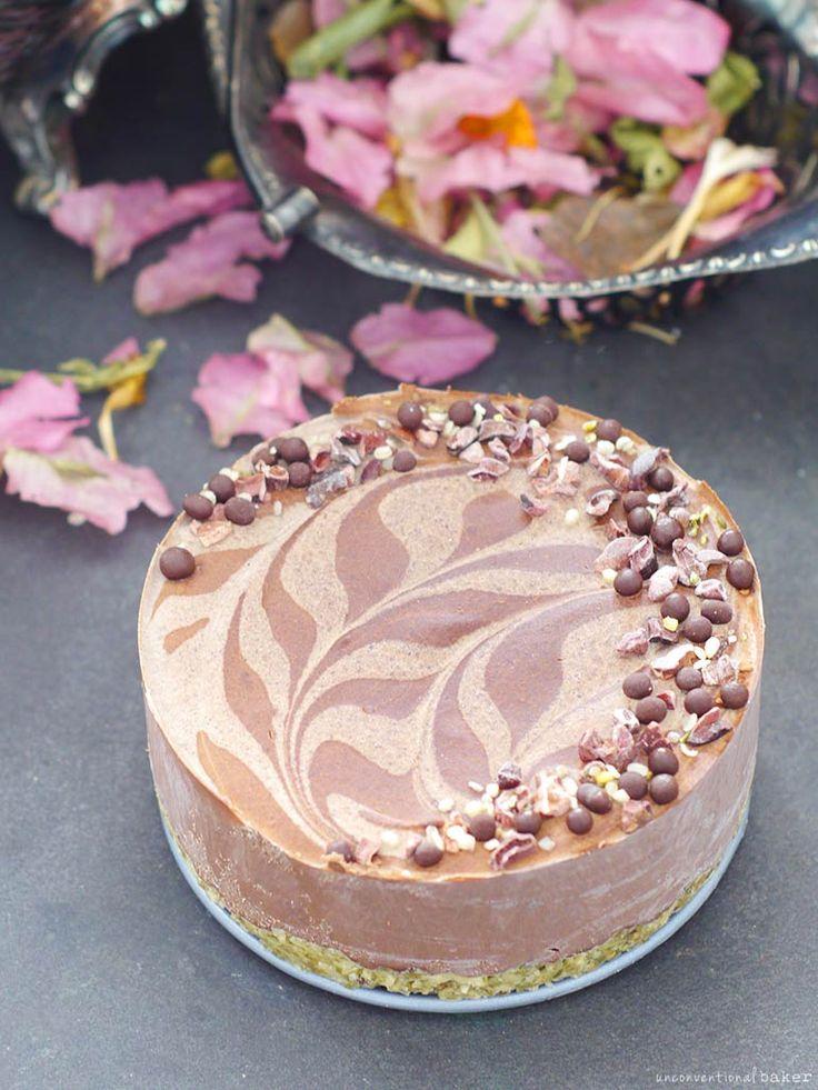 Chocolate Cauliflower Ice Cream Cake  Raw Ish   No Bake  and Free From  gluten  amp  grains  dairy  nuts  eggs  and refined sugar