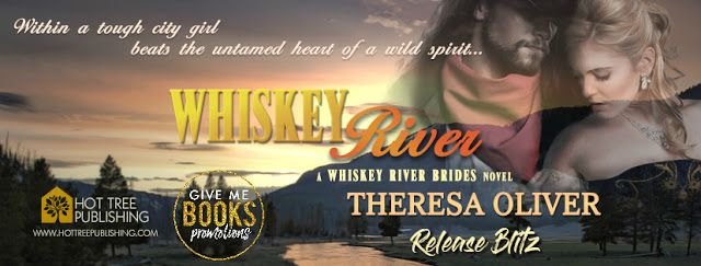 Whiskey River by Theresa Oliver  Title: Whiskey River Series: Whiskey River Brides #1  Author: Theresa Oliver  Publisher: Hot Tree Publishing Genre: Historical Romance  Release Date: February 10 2018  Blurb  Begin the journey to 1870s Whiskey River in this thrilling romantic adventure series Whiskey River (Whiskey River Brides series).  Within a tough city girl beats the untamed heart of a wild spirit...  Ella Raines may not have the best reputation in New York but shes determined to have…