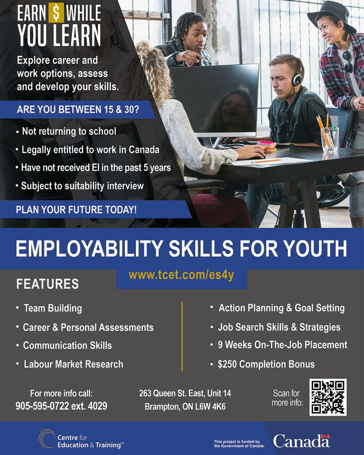 Between 15 & 30 years old, not returning to school, and looking for work? Employability Skills For Youth may be the right choice for you. Eligible applicants can receive #jobsearch training, 9 weeks of on-the-job placement and a $250 completion bonus https://www.tcet.com/es4y #jobs