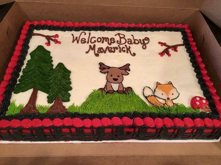 Blattkuchen der Waldgeschöpfe in der Buttercreme – Parteien   – Cakes