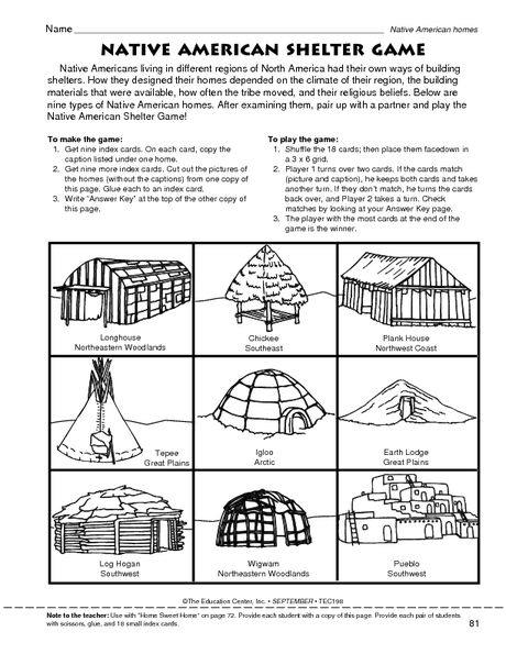 Gamemakertech.info | Images: Native American Map Worksheet