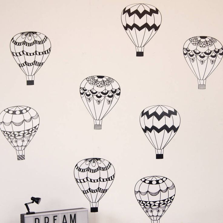 Monochrome Hot Air Balloons
