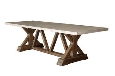 Trestle Base Concrete Dining Table |