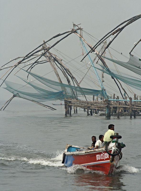 Speeding past the nets, Cochin