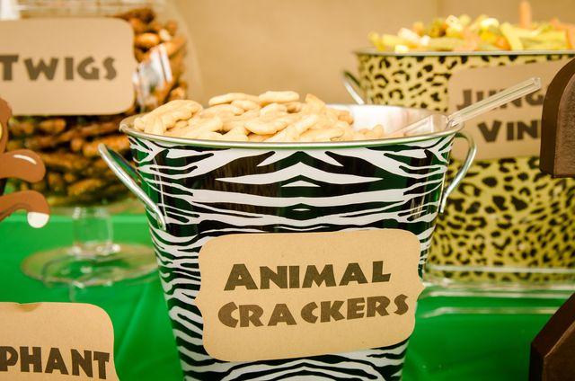 Snacks at a Jungle Safari Party #jungle #partysnacks