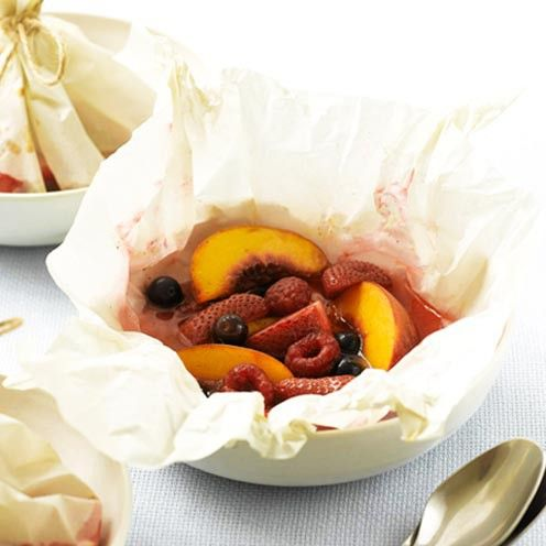 baked fruit parcels