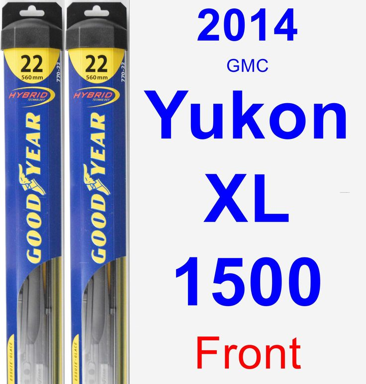 Front Wiper Blade Pack for 2014 GMC Yukon XL 1500 - Hybrid
