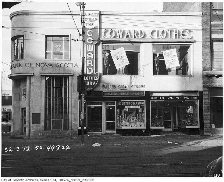 Storefront, Yonge Street, Toronto, 1954