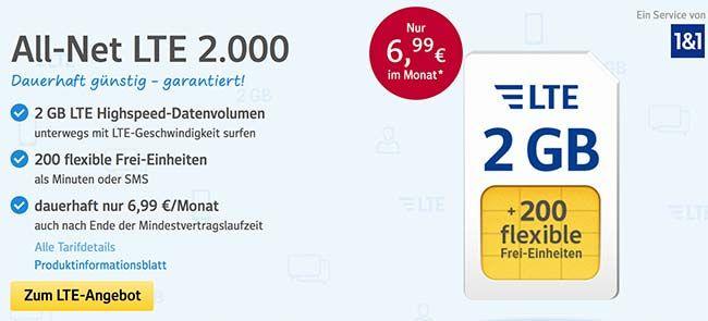 1&1 Tarife ► bis zu 5GB Internet und Telefon Flat ab 6,99€