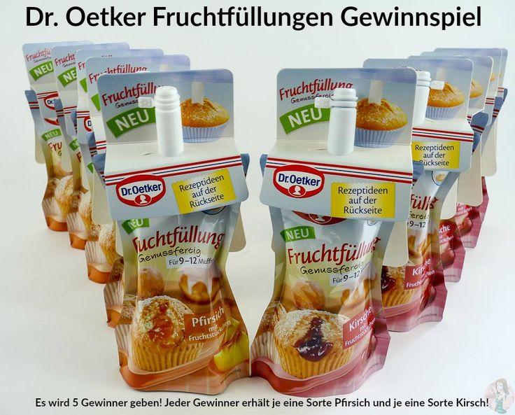 Mach mit beim Dr. Oetker Fruchtfüllungen #Gewinnspiel! Es gibt 5 x je die Sorte Pfirsich und Kirsch zu gewinnen !  Viel Glück :)