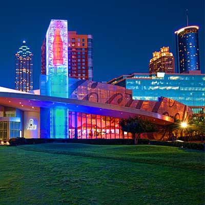 Atlanta CityPASS. Save 40% off a Georgia Aquarium Anytime Pass, plus 4 more top Atlanta attractions: World of Coca-Cola, CNN Studio Tours, Zoo Atlanta OR Center for Civil & Human Rights. Fernbank Museum of Natural History OR College Football Hall of Fame and Chick-Fil-A Fan Experience. You'll skip most ticket lines, too.