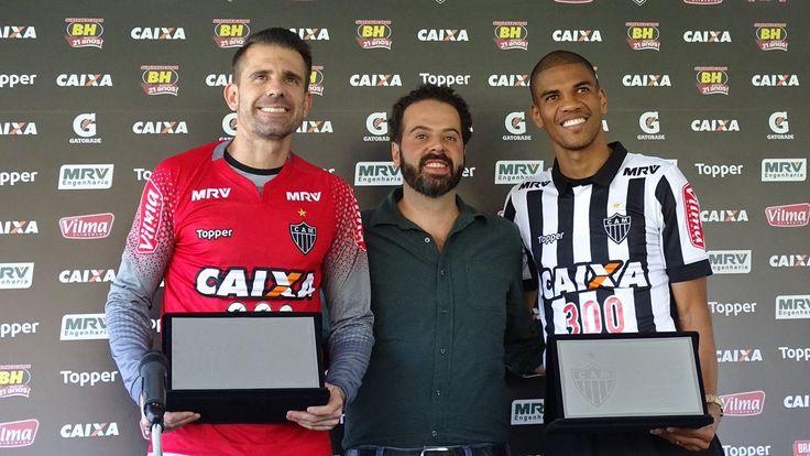 Goleiro e zagueiro completaram, praticamente juntos, a marca de 300 partidas pelo Atlético-MG
