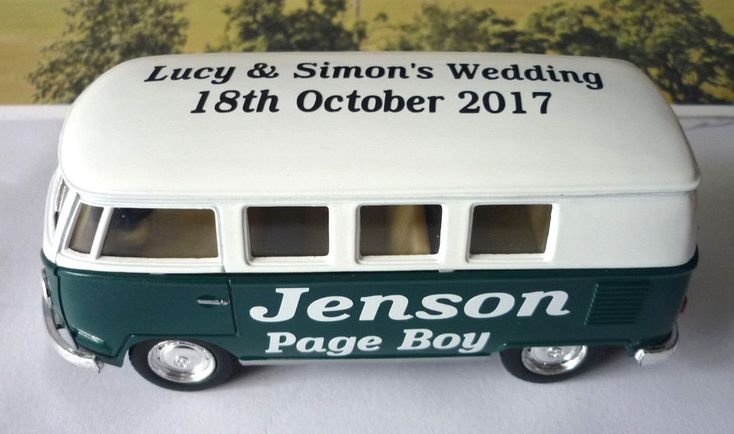 Name, Wedding Role, Bride and Groom Names and the Wedding date. Just let me know your choice of Name, Wedding Role, Bride & Groom Names and Wedding Date after buying either through. Green & White VW Camper Bus. | eBay!