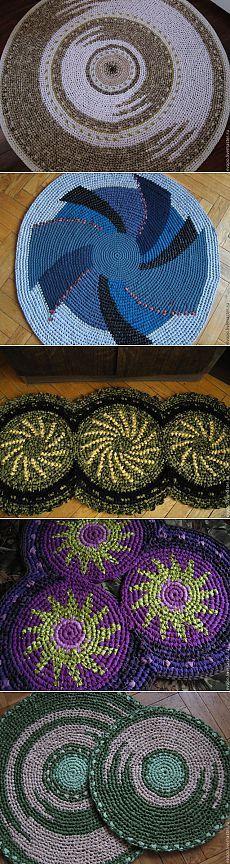 Идеи для тех, кто вяжет коврики / Вязание крючком / Вязаные крючком аксессуары