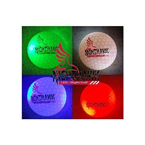 4 Nighthawk Glow In Dark LED Light Up Golf Balls Official Size Weight  Constant On,. Glow In DarkGolf BallLightsGift ...